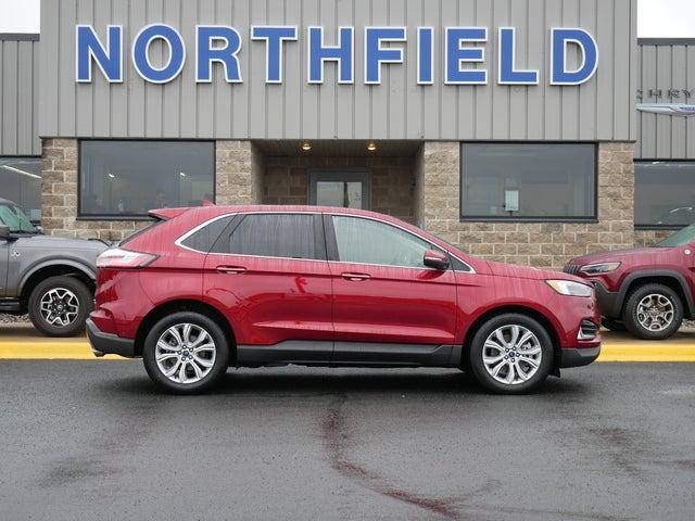 Used 2019 Ford Edge Titanium with VIN 2FMPK4K98KBB69711 for sale in Northfield, Minnesota